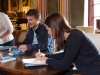 Peter Hobbs and Sarah Butler signing books
