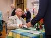 Louis de Bernieres signing books