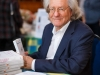 AC Grayling in the LitFest cafe