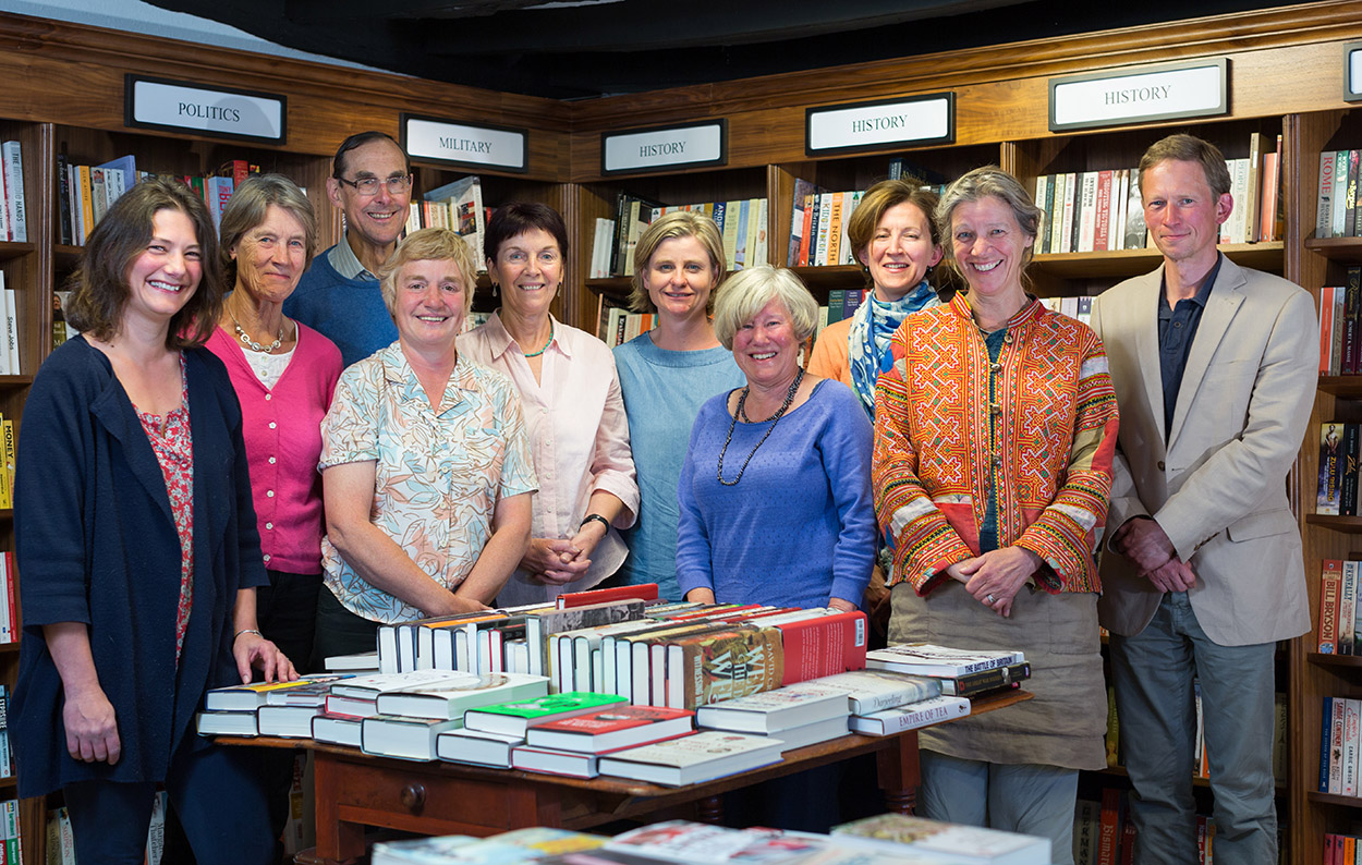 LitFest committee members in the bookshop