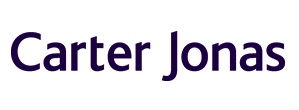 Logo of Carter Jonas navy blue and white