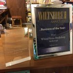 Two Wiltshire Life awards on the bookshop counter